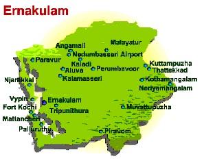Flower delivery in Ernakulam. Ernakulam map