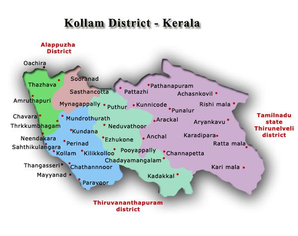 Flower delivery in Kollam. Kollam map