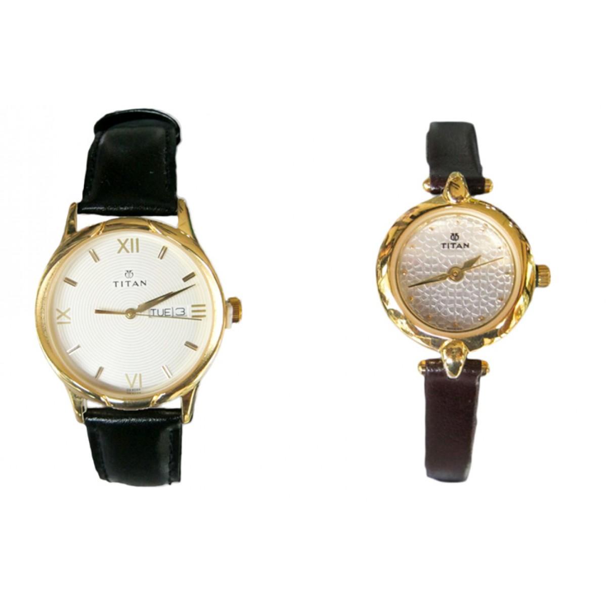 wedding gift set titan analog watch for men women saving 8