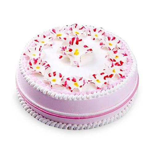 Cake Designs For Half Kg : Pink Vanilla Cake Half kg Buy Gifts Online