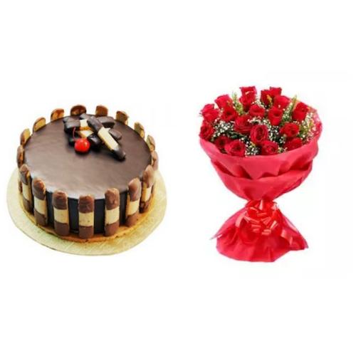 Cake & Flower Combo 2