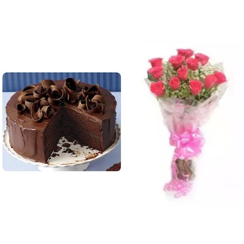 Cake & Flower Combo 3