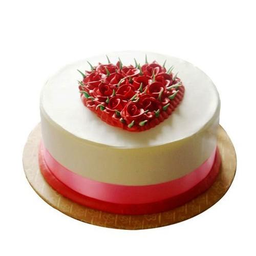 Eggless Rose Cake 1Kg - KGS-CAK174