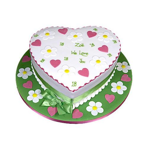 Heart Shape Cake 1kg - KGS-CAK114
