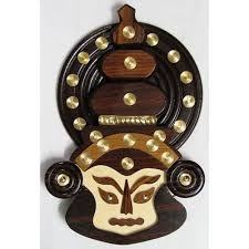 Kerala Kathakali Wooden Mask - കേരളത്തിന്റെ  തനതായ കലാരൂപങ്ങൾ സമ്മാനിക്കൂ