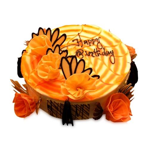 Mango Fantasy Cake Half Kg - KGS-CAK134