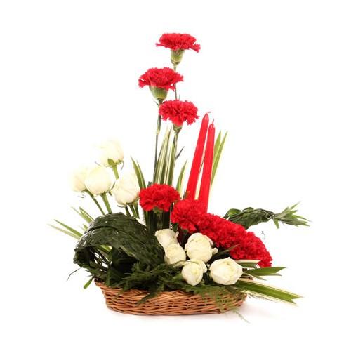 Mixed Flower Basket - KGS-FLR138
