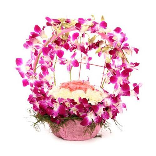 Mixed Flower Basket - KGS-FLR143