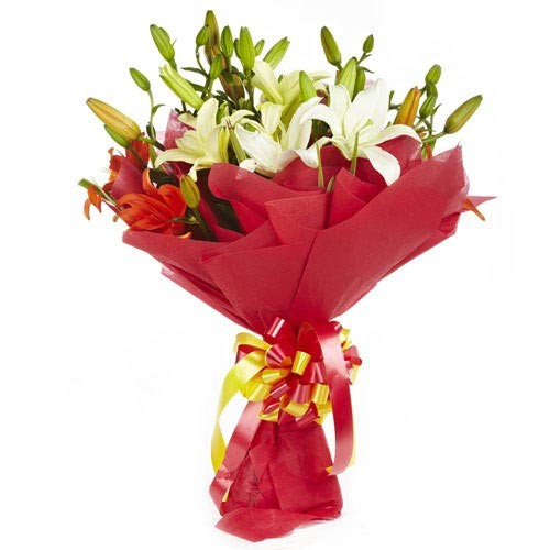 Mixed Lily Bouquet - KGS-FLR117