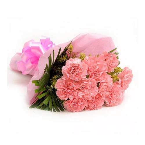 Pink Carnation Bouquet - KGS-FLR107