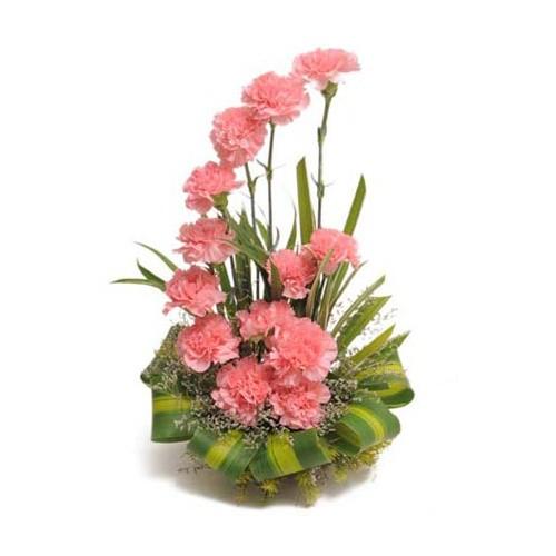 Pink Carnation Bouquet - KGS-FLR142
