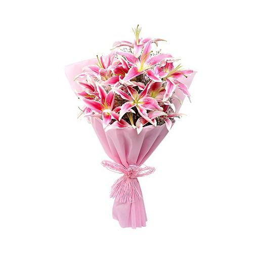 Pink Lily Bouquet - KGS-FLR111