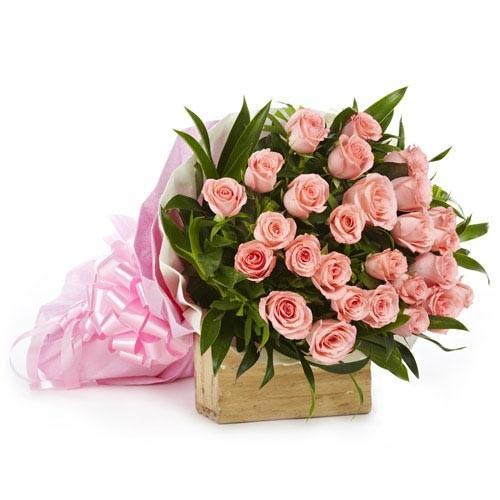 Pink Rose Flower Bunch - KGS-FLR104