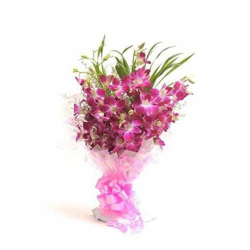 Purple Orchid Bouquet - KGS-FLR136