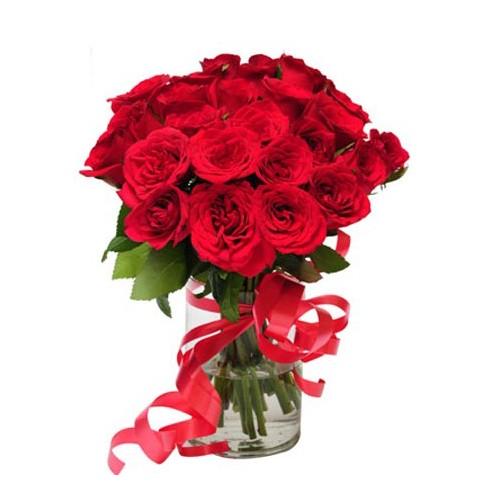 Red Rose Flower Vase - KGS-FLR109