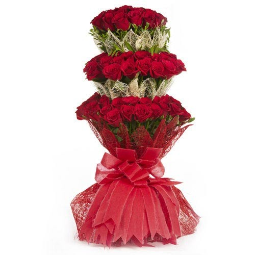 Three Layer Rose Bouquet - KGS-FLR115