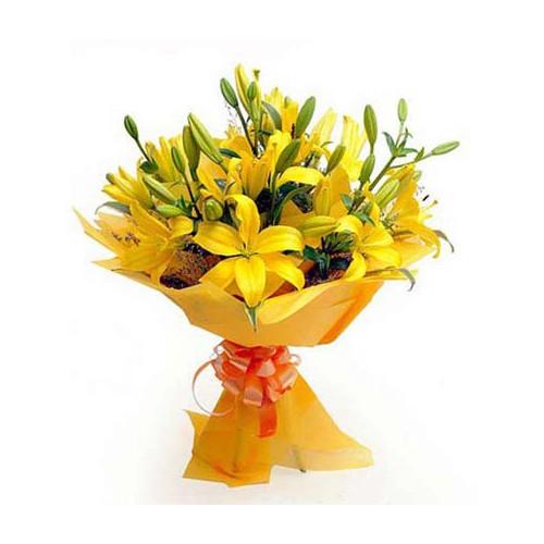 Yellow Lilies Bouquet - KGS-FLR113