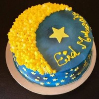 Min 1kg - EID Cake Yellow - SKUEID201820