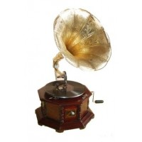 Handcrafted Wooden Gramophone - Record Player