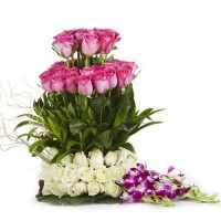 Rose and Orchid Bouquet - KGS-FLR127