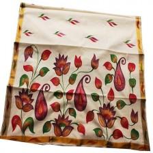 Kerala Saree with Floral Design - SAREE2017-7