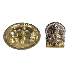 Diwali Thali - Puja Thali & Ganesh Idol - 1APO352