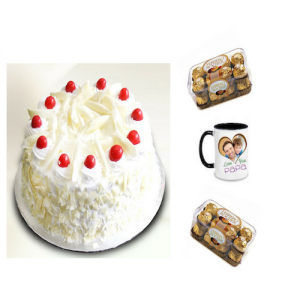 White forest cake, Chocolates & Personalized Mug - Saving 10$ - COMBO2017-15