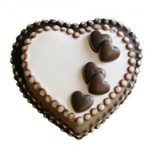 Heart Chocolate Cake 1Kg - KGS-CAK171