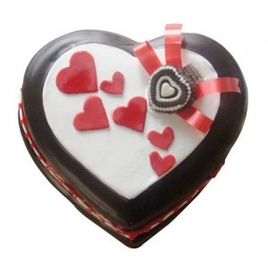 Heart Shaped Chocolate Cake 1Kg - KGS-CAK175