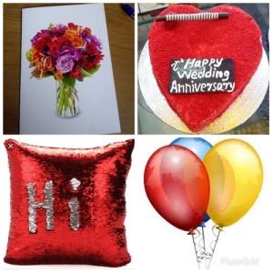 Magic Pillow + Red Velvet Cake 1 kg + 3 Balloons + Greeting Card - COMBO20191