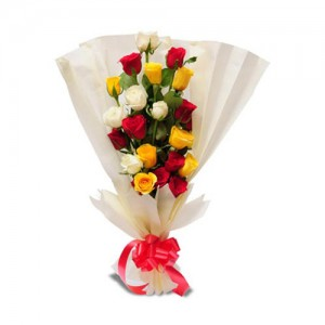 Mixed Rose Bouquet - KGS-FLR137