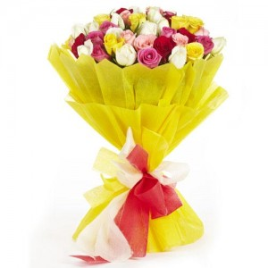 Mixed Rose Bunch - KGS-FLR119