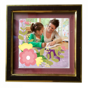 Photo Frame with wide Brown and Golden Border - FRM103
