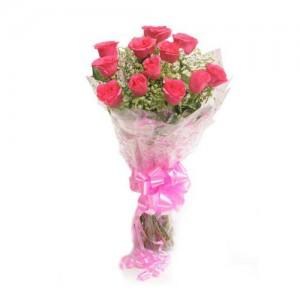Pink Rose Bunch - KGS-FLR135