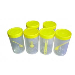 Plastic Tin 1000ml 6Pcs - VLP1662