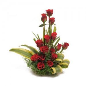 Red Rose Basket - KGS-FLR123