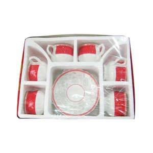 Sonakey Cup and Saucer 12Pcs - GRV3891
