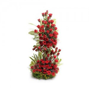 Tall Red Rose Bouquet - KGS-FLR125