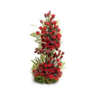 Tall Red Rose Bouquet - KGS-FLR125