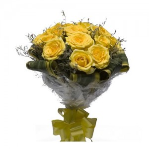 Yellow Roses Bouquet - KGS-FLR144