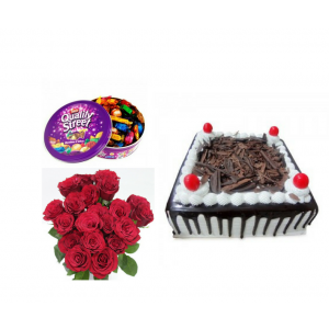 Cake Chocolates Flower Combo - Saving 6$ - COMBO2017-4