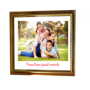 Golden Colour Photo Frame with Embossing - FRM101