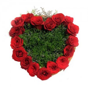 Heart Shape Rose Bouquet - KGS-FLR146
