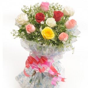 Mixed Rose Bouquet - KGS-FLR106