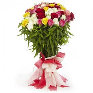 Mixed Rose Bouquet - KGS-FLR129
