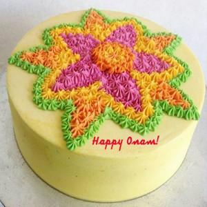 Onam Pookalam cake - SKU: CAK2017-1