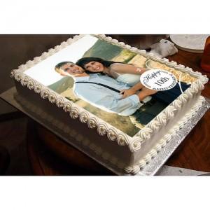 2 Kg Personalized Wedding Anniversary Cake - SKUCAK2017WA2