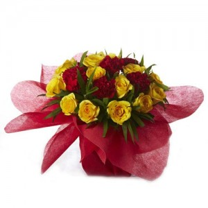 Rose and Carnation Mixed Bouquet - KGS-FLR128