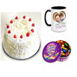 White forest cake, Chocolates & Personalized Mug - Saving 6$ - COMBO2017-11