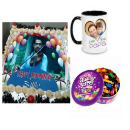 2 Kg Personalized Cake, Chocolates, Personalized Mug - Saving 12$ - COMBO2017-12